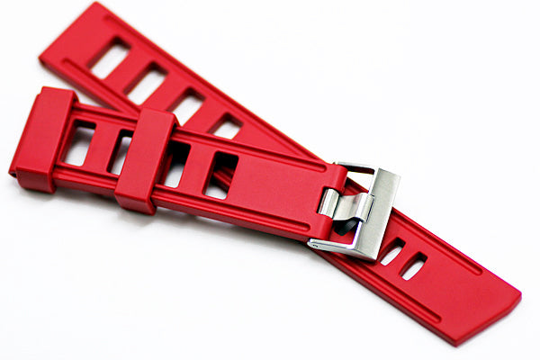 22mm Vanilla Scented Natural Rubber Strap - Red