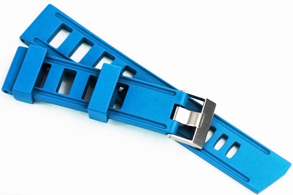 22mm Vanilla Scented Natural Rubber Strap - SkyBlue - OBRIS MORGAN TIMEPIECES