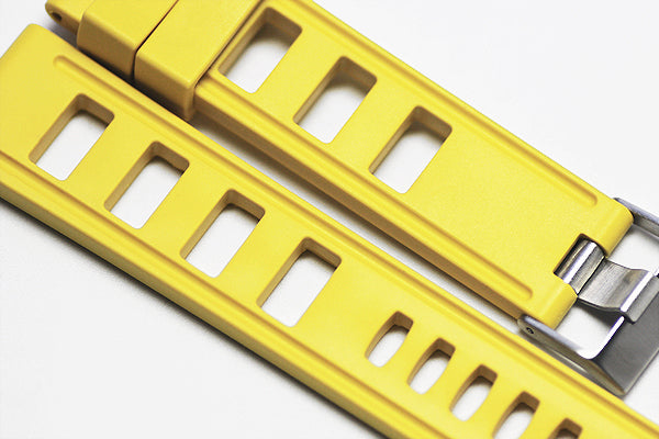 20mm Vanilla Scented Natural Rubber Strap - Lemon Yellow