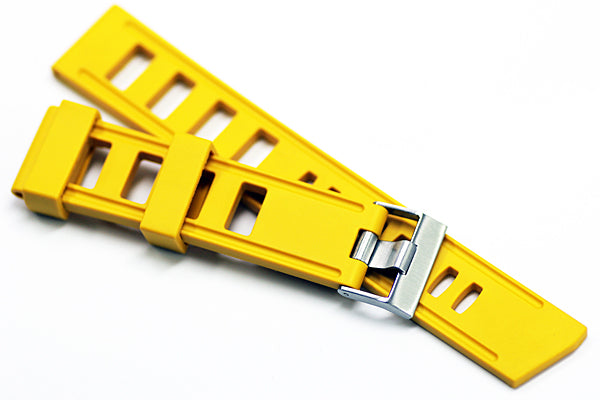 20mm Vanilla Scented Natural Rubber Strap - Warm Yellow
