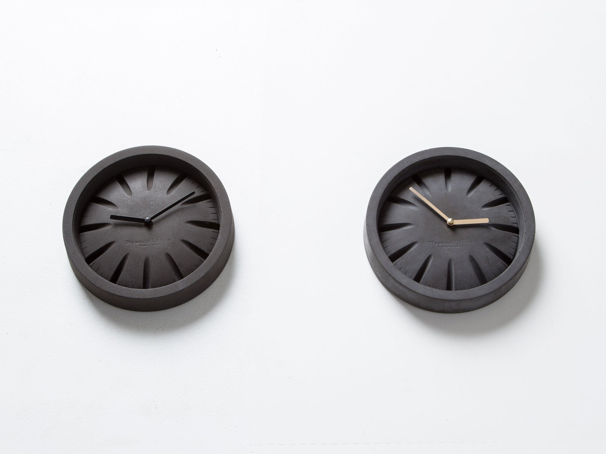 PO Black Concrete Clock