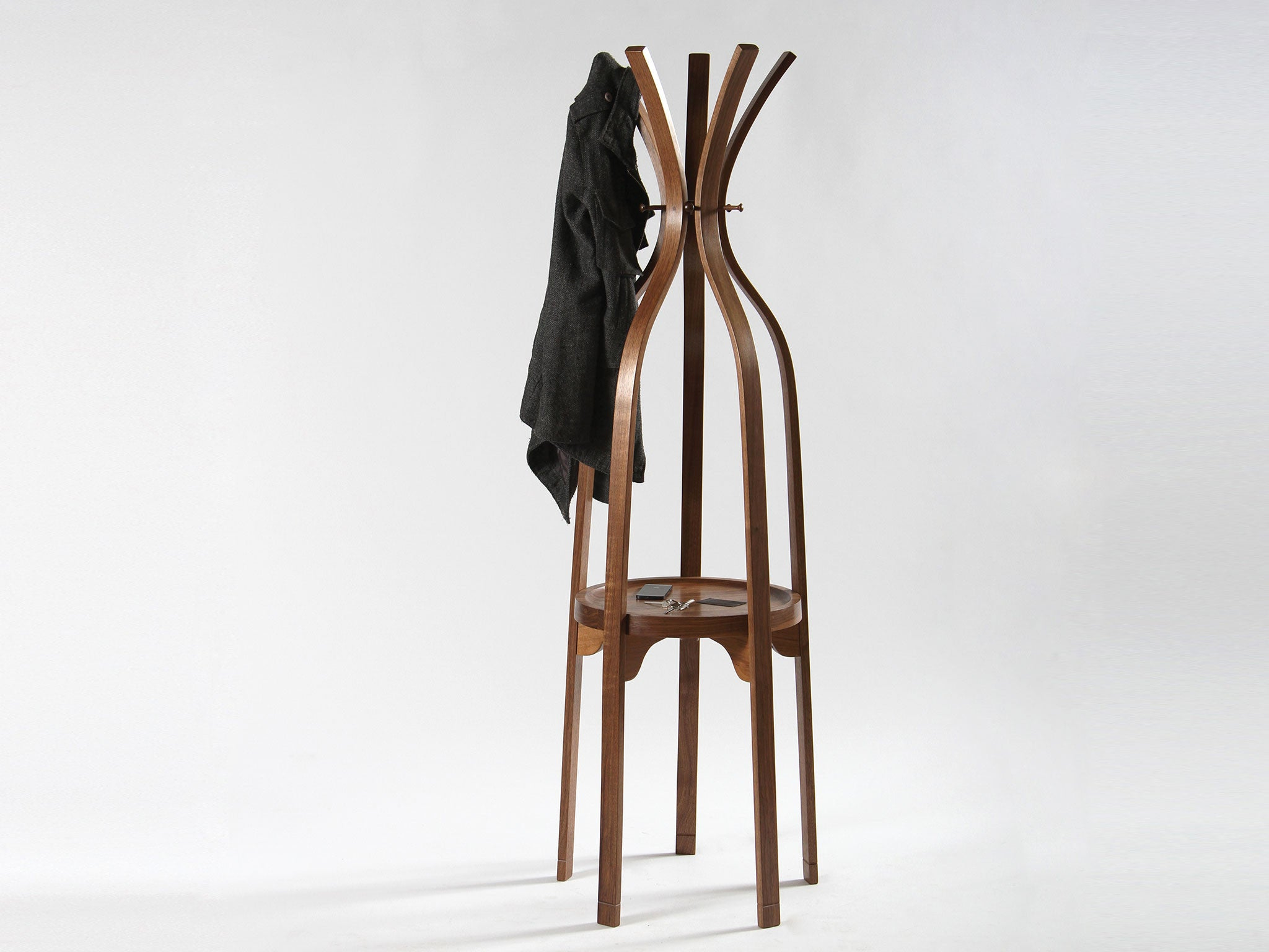 Plywood Office Rack of Coats