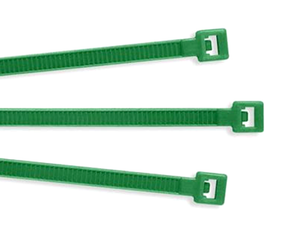 "Color Nylon Cable Ties: 8""  Green: .14"" (50)"