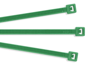 "Color Nylon Cable Ties: 4""  Green: .10"""