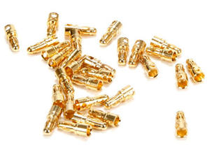 Gold Bullet Connector, Male, 3.5mm (30)