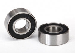Ball Bearing, Black Rubber Sealed (6x13x5mm) (2): 5180A