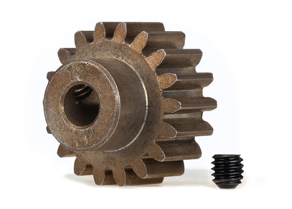 Gear, 18-T Pinion MOD1 5mm Shaft, for steel spur gears: 6491x