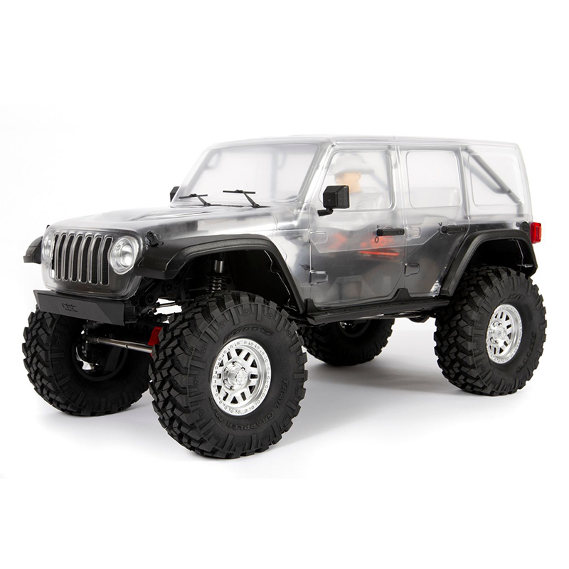 1/10 SCX10 III Jeep Wrangler, 4WD, Unassembled Kit x/Clear Body (Requires electronics, battery & cha