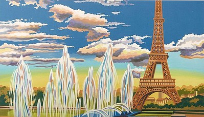 Eiffel Tower, Paris Acrylic Paint by Number (11.5