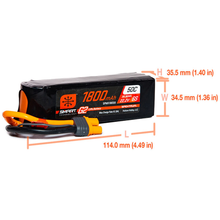 Load image into Gallery viewer, 6 Cell 1800mAh 22.2V 50C, Smart LiPo G2: EC3