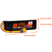 Load image into Gallery viewer, 4 Cell 2200mAh 14.8V 50C Smart LiPo G2: IC3