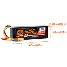 Load image into Gallery viewer, 4 Cell 5000mAh 14.8V 50C Hard Case Smart LiPo G2: IC5