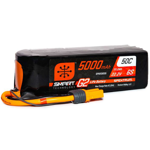 6 Cell 5000mAh 22.2V 50C Hard Case Smart LiPo G2: IC5