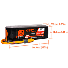 Load image into Gallery viewer, 6 Cell 5000mAh 22.2V 50C Hard Case Smart LiPo G2: IC5