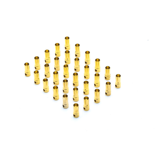 Gold Bullet Connector, Female,
