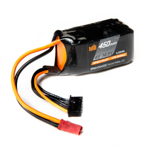 4 Cell 450mAh 14.8V 50C LiPo Battery, JST