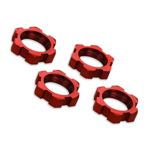 17mm Serrated Wheel Nuts (Red): 7758R
