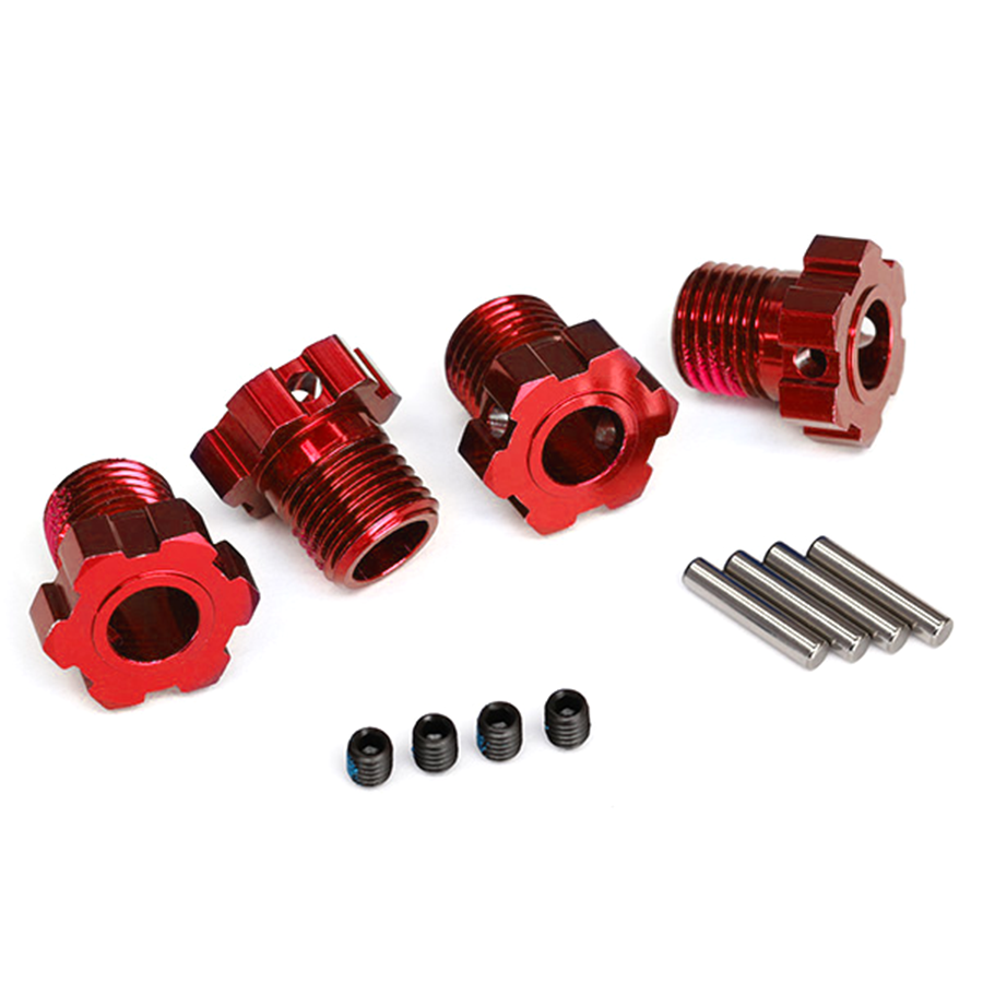 Wheel Hub, Splined, 17mm (Red) (4): 8654R