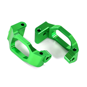 Caster Blocks (C-Hubs), Aluminum, Green, Left and Right: 8932G