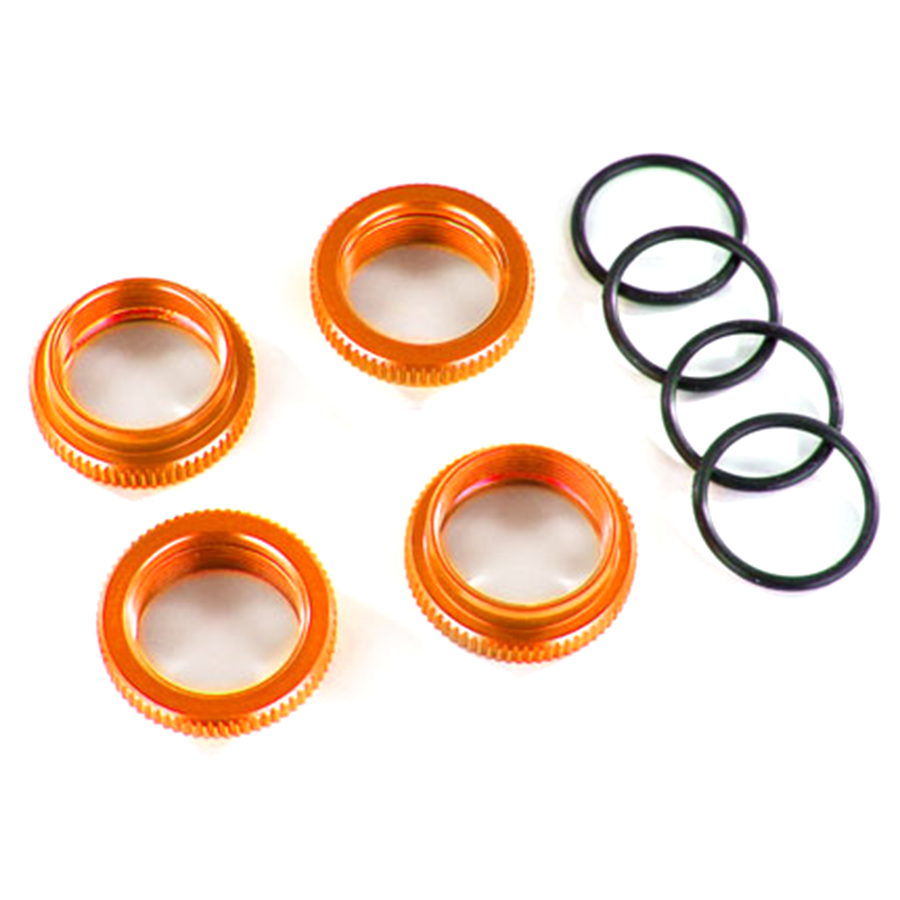 Spring Adjustment Collar w/ O Ring for GT Maxx Shocks, Aluminum (Orange): 8968A