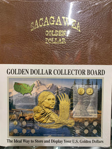 "Sacagawea Dollar Collector Board 20002009 (15"" x 23"") (D)"