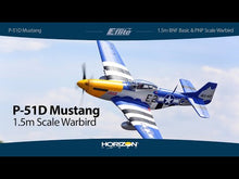 Load and play video in Gallery viewer, P51D Mustang 1.5m BNF Basic with Smart