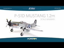 Load and play video in Gallery viewer, P51D Mustang 1.2m BNF Basic w/AS3X & SS