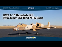 Load and play video in Gallery viewer, UMX A-10 Thunderbolt II 30mm EDF BNF Basic with AS3X and SAFE Select, 562mm