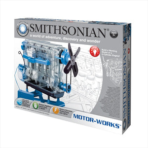 Smithsonian Motor-Works Visible 4-Cylinder Engine Kit (Batteries Required)
