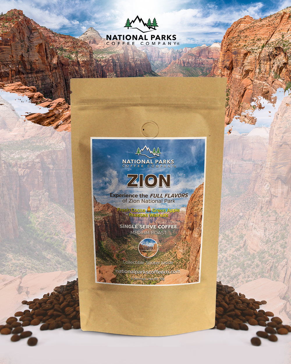 Zion Gift Coffee Set (1 Single Serve and Colored Tumbler)