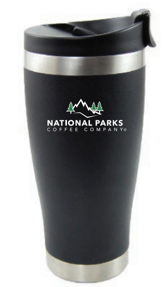National Parks Coffee Insulated Tumbler 16 fl.oz. Obsidian Grey