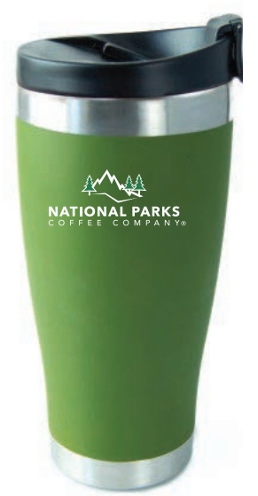 National Parks Coffee Insulated Tumbler 16 fl.oz. Pine Top Green