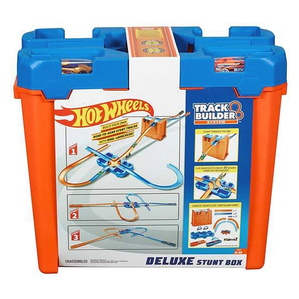 Bana med Ramper Deluxe Stunt Box Hot Wheels (4 m) - Decorema