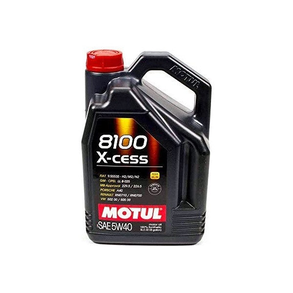 Engine Lubricating Oil Motul 8100 X-Cess (5L) - Decorema