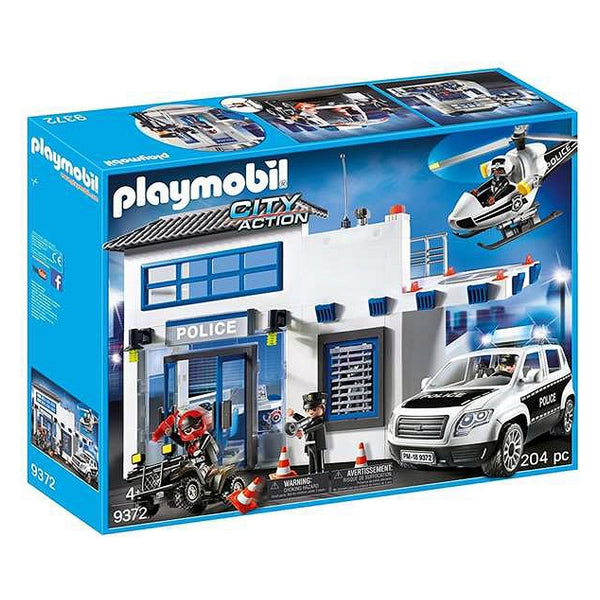 Playset City Action - Police Set Playmobil 9372 (204 pcs) - Decorema