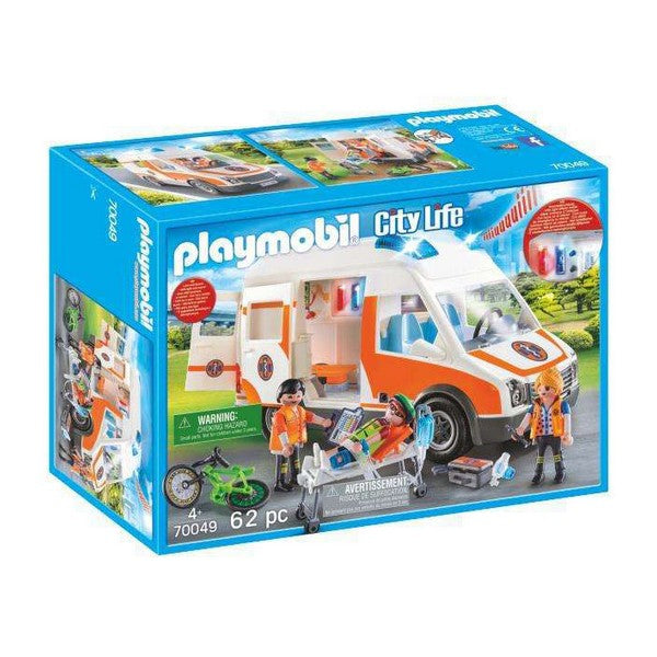 Playset City Life Emergency Ambulance Playmobil 70049 (62 pcs)