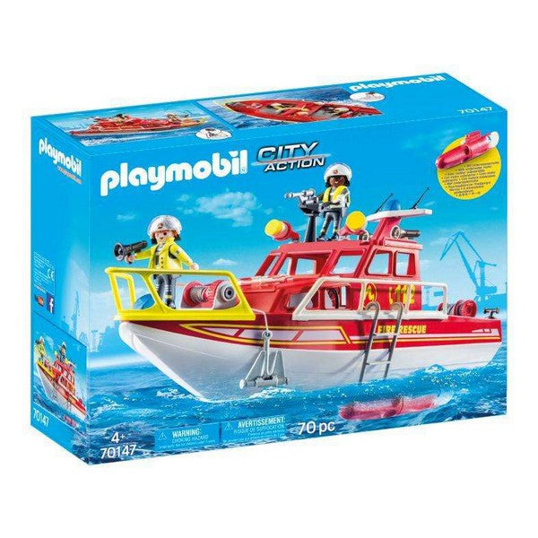 Playset City Action Rescue Boat Playmobil (70 pcs) - Decorema