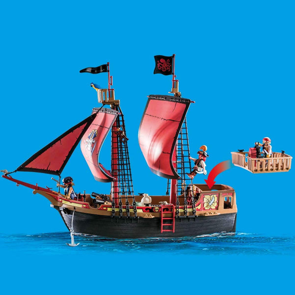 Playset Pirates- Skull Pirate Ship Playmobil 70411 (132 pcs - Decorema