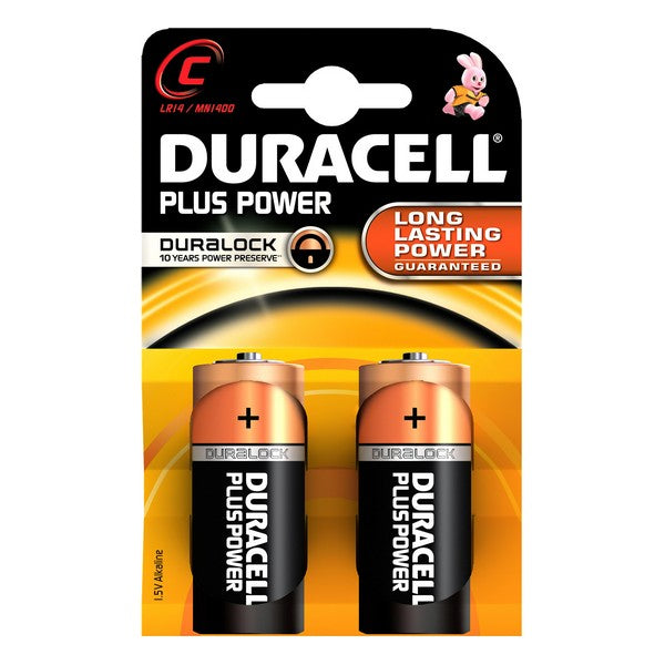 Alkaliska Batterier Plus Power DURACELL LR14/MN1400 (2 pcs) - Decorema