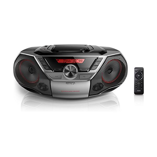 Bluetooth CD-radio MP3 Philips AZ700 12W Grå - Decorema