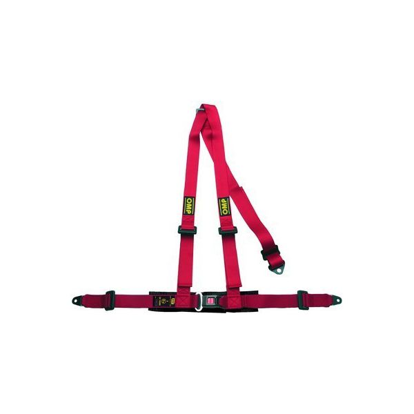 Harness with 3 fastening points OMP Road 3 Röd - Decorema