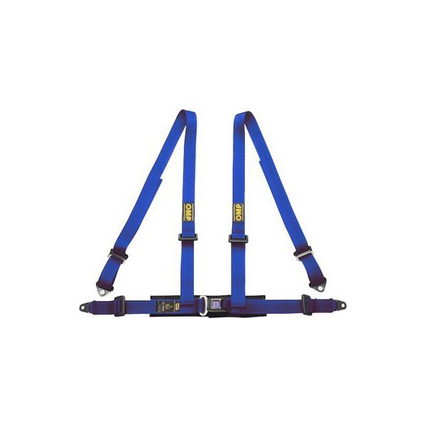 Harness with 4 fastening points OMP Road 4 Blå - Decorema
