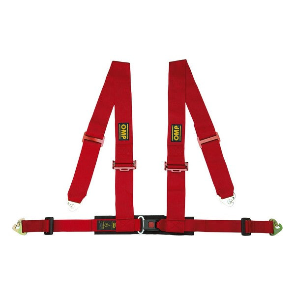 Harness with 4 fastening points OMP ECE Röd - Decorema