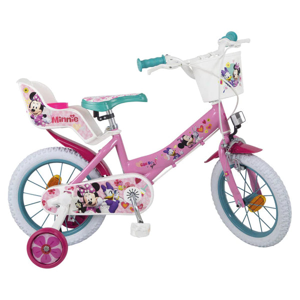 "Barncykel Minnie Mouse 14"" Rosa"