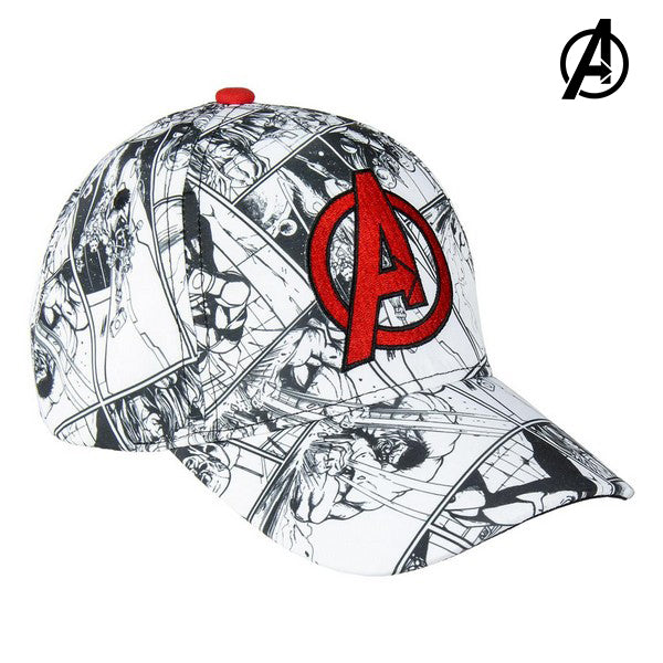 Barnkeps The Avengers 75320 Vit (53 Cm) - Decorema