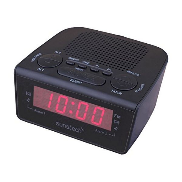 Klockradio Sunstech FRD18BK Svart - Decorema