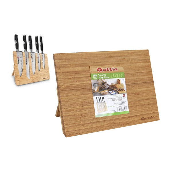 Magnetic knife holder Quttin Bamboo (34 X 25 x 1.7 cm)
