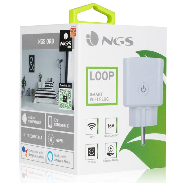 Smartkontakt OR: Intelligent Kontakt NGS Plug Loop WiFi 3680W Vit - Decorema