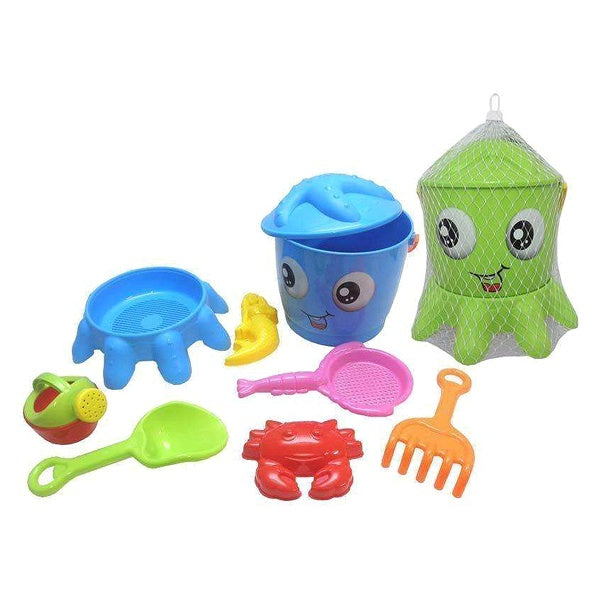 Strandleksaker set Octopus (9 pcs) - Decorema