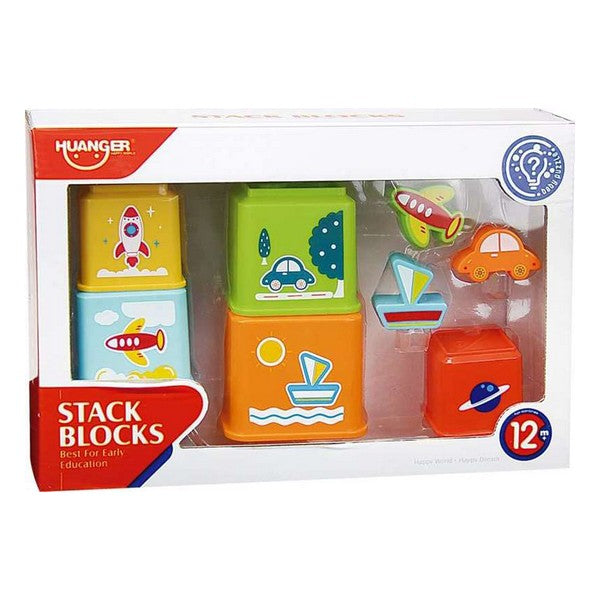 Staplingsbara block 8 pcs (1+ år) - Decorema